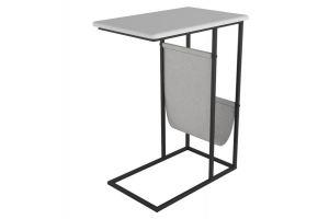 Стол придиванный Бали белый/черный - Мебельная фабрика «Мебелик»