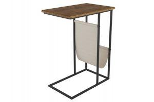 Стол придиванный Бали дуб американский/черный - Мебельная фабрика «Мебелик»
