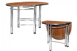 Стол Пристенный кухонный хром / крашенный металлокаркас - Мебельная фабрика «Мир Стульев»