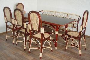 Стол прямоугольный и кухонный стул - Мебельная фабрика «Плетеная Мебель»