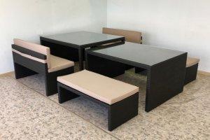 Стол раздвижной из искусственного ротанга - Мебельная фабрика «АртРотанг»