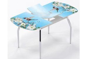 Стол раздвижной Колибри и цветы - Мебельная фабрика «Рим»