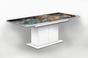 Стол раздвижной на тумбе Камень 2 - Мебельная фабрика «Рим»