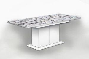 Стол раздвижной на тумбе Камушки 2 - Мебельная фабрика «Рим»