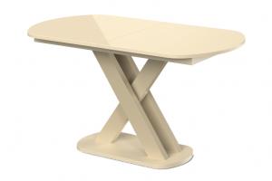 Стол раздвижной Сарбо со стеклом на единой опоре - Мебельная фабрика «MAMADOMA»