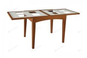 Стол Рим со стеклянной столешницей - Мебельная фабрика «Лидер»