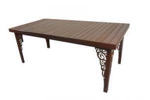 Стол Ривьера-4 с декором - Мебельная фабрика «Металл конструкция»