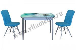 Стол с фотопечатью 34, стул Бриз - Мебельная фабрика «ВиТа-мебель»