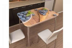 Стол с фотопечатью на изогнутых опорах - Мебельная фабрика «Трио мебель»