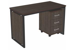 Стол с подкатной тумбой Loft - Мебельная фабрика «3 + 2»