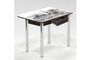Стол с ящиком Парижский пейзаж - Мебельная фабрика «Рим»