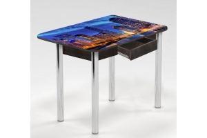 Стол с ящиком Рассвет в мегаполисе - Мебельная фабрика «Рим»