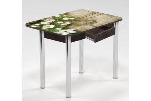 Стол с ящиком Веточка яблони - Мебельная фабрика «Рим»