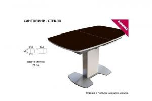 Стол Санторини стекло - Мебельная фабрика «Аврора»