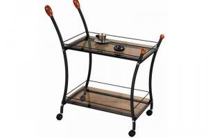 Стол сервировочный Поло черный/тонированное - Мебельная фабрика «Мебелик»