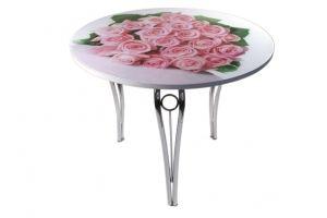 Стол Силуэт круглый - Мебельная фабрика «GlassArt»