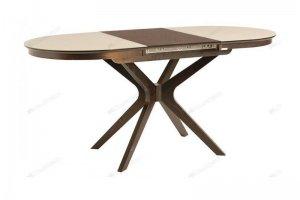 Стол Сильвер овальный со стеклянной столешницей - Мебельная фабрика «Лидер»