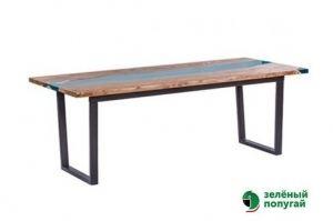 Стол Слеб с полимером 2 - Мебельная фабрика «Зеленый попугай»