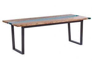 Стол СЛЭБ с полимером из массива - Мебельная фабрика «Sedie Tavoli»