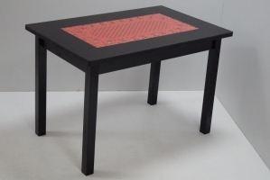 Стол стеклянный ажурный, ноги Квадро дерево - Мебельная фабрика «Астера»