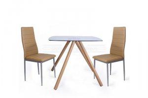 Стол стеклянный квадратный Max со стульями Alan - Мебельная фабрика «Мебель-Покупай»