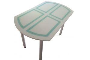 Стол стеклянный Милана RAL9003/6034 - Мебельная фабрика «Астера»