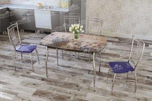 Стол стеклянный с фотопечатью Бочонок - Мебельная фабрика «StoloFF58»
