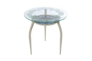 Стол стеклянный с постольем Стиль №5 - Мебельная фабрика «7 цветов»