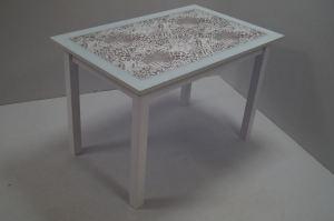 Стол стеклянный ТС ноги Квадро дерево - Мебельная фабрика «Астера»