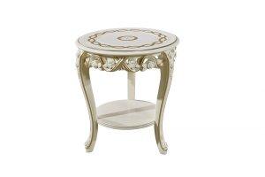 Стол светлый круглый Венеция - Импортёр мебели «Kartas»