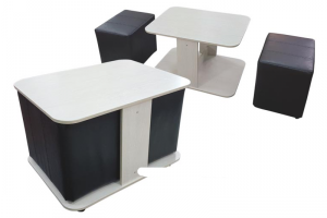 Стол СЖ 08 с пуфами журнальный - Мебельная фабрика «Фато»