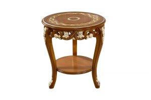 Стол темный круглый Венеция - Импортёр мебели «Kartas»