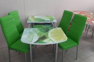 Обеденная группа Стол Трио и 4 Мягких стула - Мебельная фабрика «ИЛ МЕБЕЛЬ»