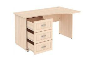 Стол угловой с тумбой и ящиками Г776 01 - Мебельная фабрика «Уют сервис»
