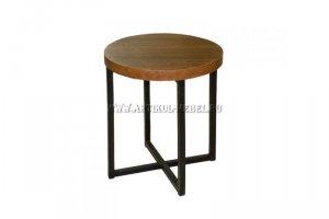 Стол в стиле ЛОФТ  журнальный Х - Мебельная фабрика «Артикул-Мебель»