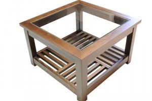Стол журнальный квадратный - Мебельная фабрика «WoodCraft»