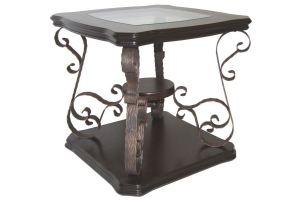 Стол журнальный Лючия 2102 темно-коричневый/прозрачное - Мебельная фабрика «Мебелик»