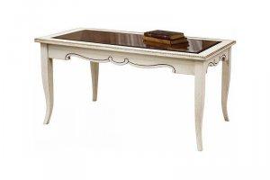 Стол журнальный Марселла 01 со стеклом - Мебельная фабрика «Эксклюзив-Пинск»
