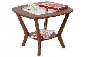 Стол журнальный Мельбурн со стеклом орех - Мебельная фабрика «Мебелик»