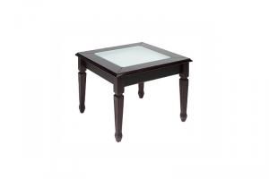 Стол журнальный Пион С600 со стеклом - Мебельная фабрика «СТУЛОН»