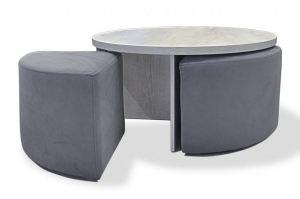 Стол журнальный с пуфами 5 - Мебельная фабрика «Новая мебель»