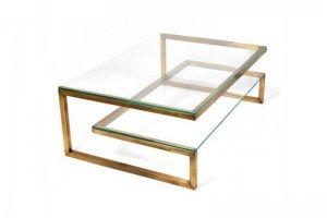 Стол журнальный со стеклом 1 - Мебельная фабрика «Loft Zona»