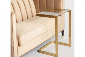 Стол журнальный со стеклом 3 - Мебельная фабрика «Loft Zona»