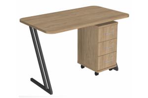 Стол Зигзаг серии Loft с тумбой - Мебельная фабрика «3 + 2»