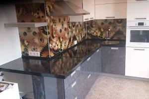 Столешница на кухню Corian Deep Black Quartz - Оптовый поставщик комплектующих «Афиан»