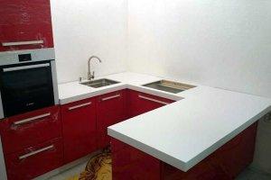 Столешница на маленькую кухню Corian Glacier White - Оптовый поставщик комплектующих «Афиан»
