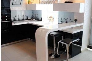 Столешница с барной стойкой Corian Designer White - Оптовый поставщик комплектующих «Афиан»
