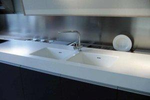 Столешница с кухонной мойкой Corian - Оптовый поставщик комплектующих «Афиан»