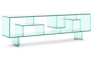 Стойка стеклянная под ТВ Cristall-05 - Мебельная фабрика «Antall»