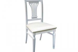 Стул Арида белый/патина, жаккард Палермо карамель - Мебельная фабрика «Мебелик»